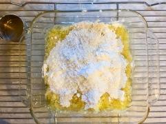 flour on top